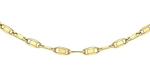 Carissima Gold 9ct Yellow Gold Oval Flat Link Chain of 51cm/20