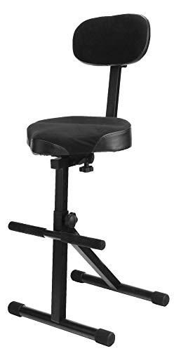 Classic Cantabile ST-200 PRO Stehhilfe Stehstuhl Stehsitz Bügelstuhl (massives Stahlgestell, Gummifüßen, Sitzhöhe 5-Stufig, 57-81 cm einstellbar, Sitzfläche BxHxT: 41 cm x 8,5 cm x 37 cm) -