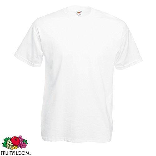 5/10er Fruit of the Loom Herren Valueweight T-Shirt Kurzarm Rundhals Gr. 3XL-5XL 10x Weiß