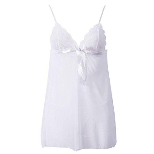 Malloom® 6 Farben Mode Sexy Spitze Unterwäsche Maid Uniformen Versuchung Unterwäsche Weiß