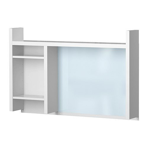 Ikea MICKE Anbauelement für Schreibtisch; in weiß; (105x65cm)