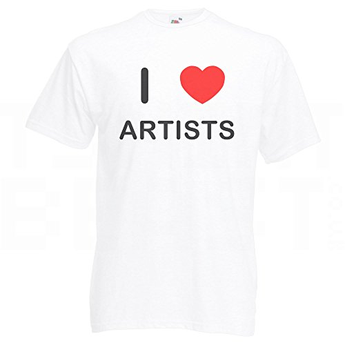 I Love Artists - T-Shirt Weiß