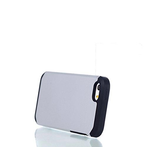 iphone se Hülle,iphone 5s Schutzhülle Defender Bumper,Ekakashop 2 in 1 Kreativ Design PC + TPU Anti-choc Splash-proof Shockproof Dual Layer Protective Handyhülle Tasche Housse Silikon Flexible Gel Pra Weiß