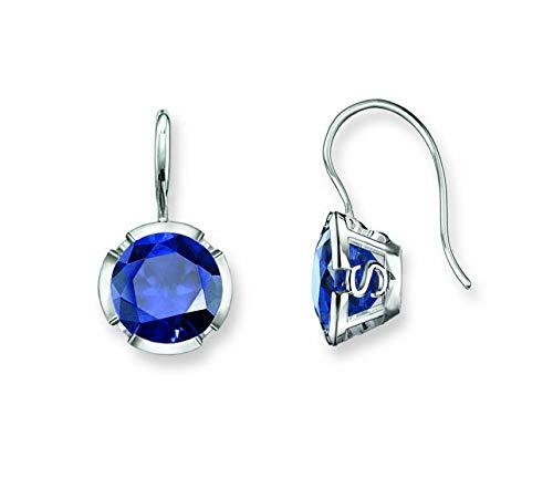 Thomas Sabo Damen-Ohrhänger 925 Silber Synthetischer Saphir blau H1837-048-32