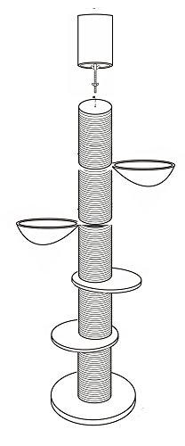"""Modell """"22"""" – das Original – sehr stabil mit Sisalstämme Kratzbaum - 2"""