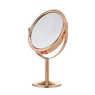 Anself Kosmetikspiegel Vergrößerung, Schminkspiegel stehend, Make Up Spiegel rund, 180° Schwenkbar