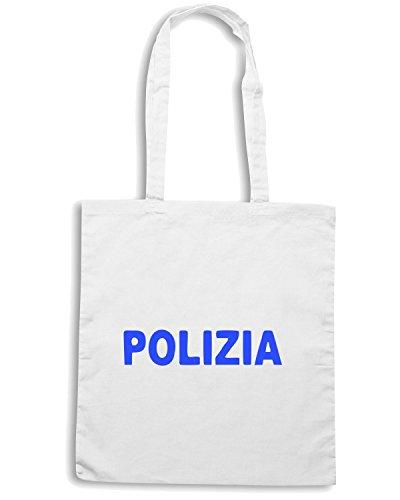 T-Shirtshock - Borsa Shopping TM0586 polizia Bianco