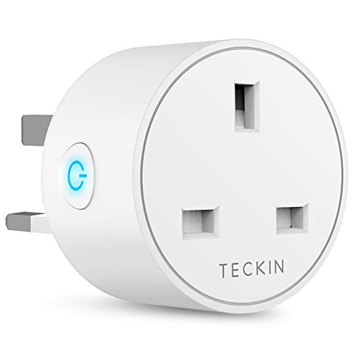 Smart Plug WiFi Outlet TECKIN Mini Plug Works with Amazon Alexa, Google  Home and IFTTT, Wireless Socket Remote Control Timer Plug Switch, No Hub