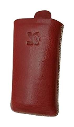 Sony Ericsson W995 - W995i Original Suncase Echt Ledertasche Etui Hülle Schutzhülle Case (Lasche mit Rückzugfunktion)