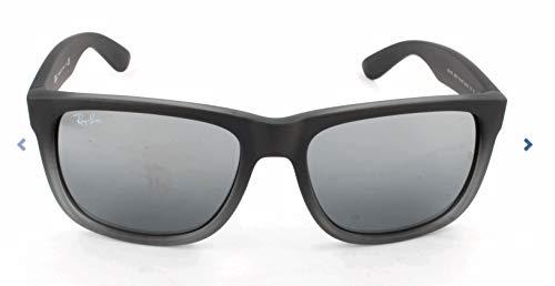 RAYBAN Unisex Sonnenbrille Justin, (Gestell: grau, Gläser: Silber verspiegelt verlauf 852/88), Large (Herstellergröße: 54)