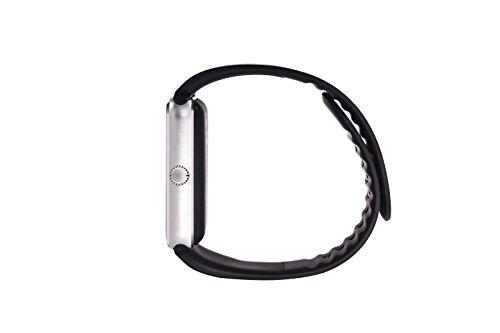 SmartWATCH Premium G4 Bluetooth Uhr Watch für Android Smartphones (inkl. Whatsapp Benachrichtigungen übertragen*) mit SIM-Karten Slot Technikware Schwarz/Silber - 4