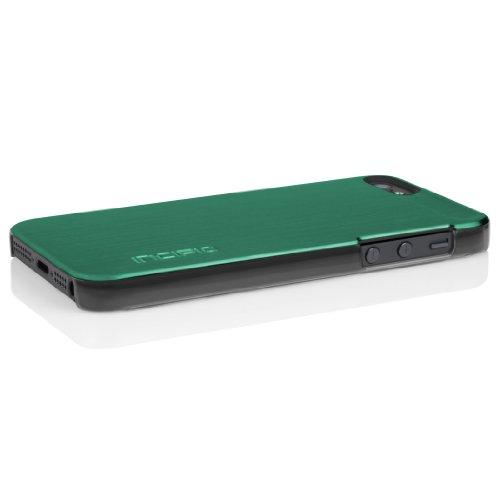 Incipio IPH-805 Feather Schutzhülle für Apple iPhone 5/5S/SE schwarz Alu Look Grün