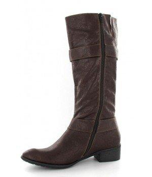 Chaussure Bas Prix - Bottes femme marron - ZS631-4 Marron