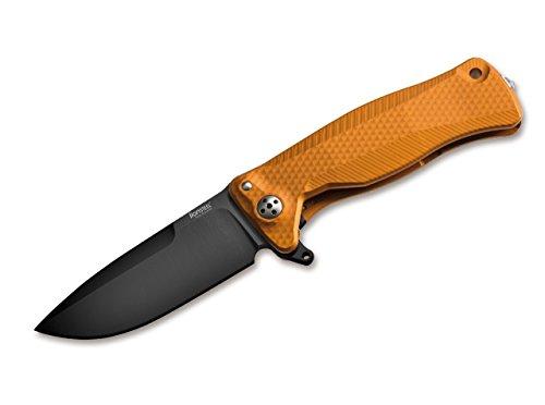 LionSteel Unisex- Erwachsene SR22 Aluminium Orange Black Taschenmesser, 18,0 cm -