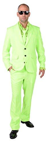 M218287-22-M neon-grün Herren Anzug Smoking Sakko Hose und Krawatte Gr.M