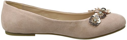 Evans Extra Wide Floral, Ballerines plates femme Off-White (Nude)