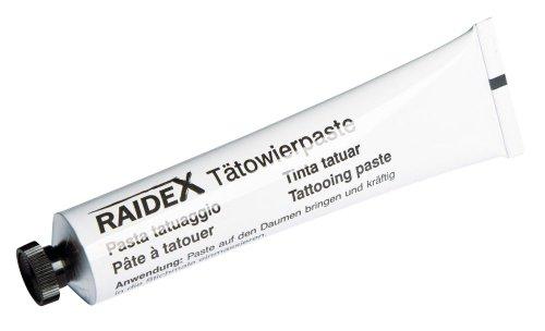 Tätowierfarbe schwarz, 60g-Tube, Orig. Raidex -
