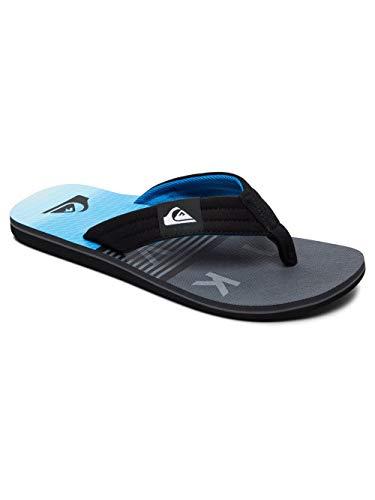 Quiksilver Molokai Layback Flip Flops - Black/Grey/Blue-UK 8