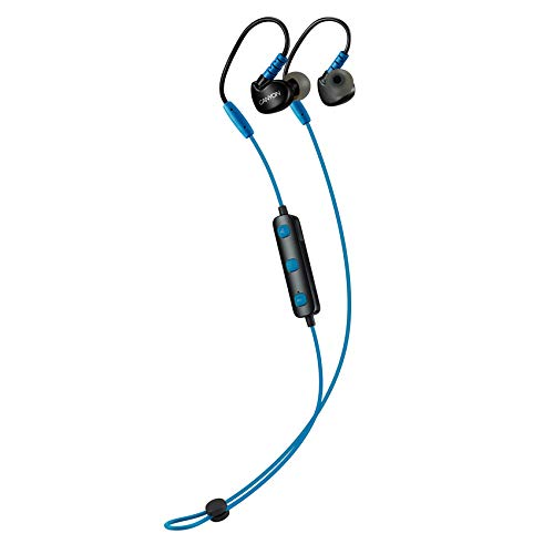 Auricolari sportivi bluetooth wireless canyon, microfono per cuffie da ginnastica da palestra, 6 ore di durata della batteria, per laptop ipad tablet pc iphone iphone, blu, cns-sbths1bl