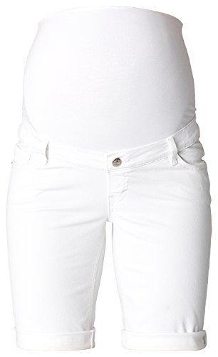 Kurze Jeans Umstandsshorts / Sommerliche Umstands-Shorts D84008 100 - White