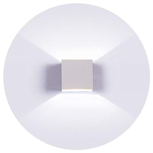 K-Bright Applique murale d'extérieur à LED, Applique murale de design moderne cube IP65, 220V, Applique murale d'intérieur blanche Natraul, de haut en bas, éclairage intérieur, Blanc