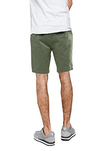 Pantaloncini Chino Da Uomo Threadbare Con Cintura Pantaloni Cotone Lunghezza Al Ginocchio Roll-up Estate Nuovo Kaki - SMW021PKA