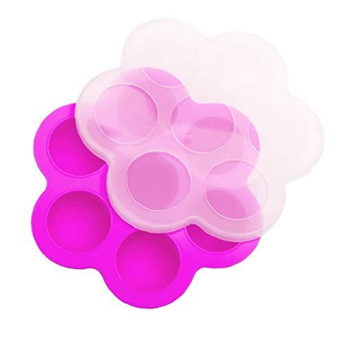 FEDSJUIHYG Silikon-Ei-Bites Formen Für Instant-Container Und Gefrierschrank-behälter Mit Deckel (pink) Silikon-Ei-Bites Moulds
