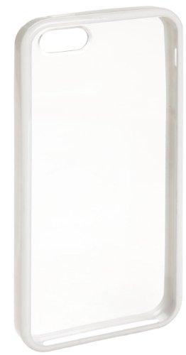 AmazonBasics Transparente Schutzhülle mit Displayschutz für iPhone SE 5 5S (weißer Rand) Weiß