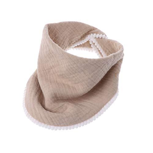 huiouer Baby Spucktücher Baumwolle Mulltuch Baby Lätzchen Bandanas weich atmungsaktiv Neugeborene Tuch Schal Khaki -