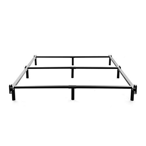 NOAH MEGATRON Bettgestell, für Doppelbett, Metall, 17,8 cm, strapazierfähig, 9 Beine, für Boxspringer und Matratze, Schwarz Full schwarz