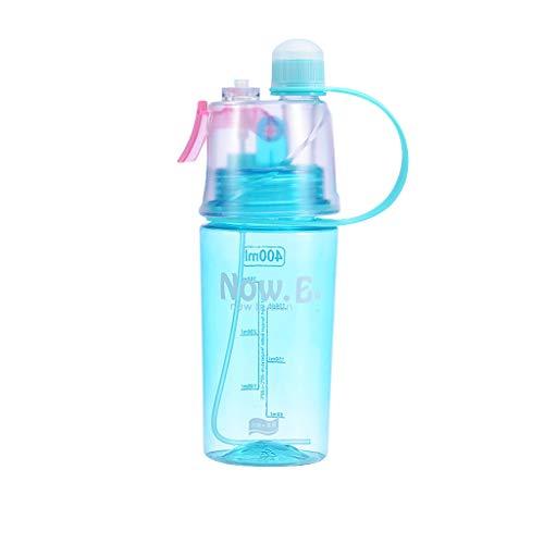 SprüHbecher, Chshe TM, Sport Cycling SprüHnebel Wasser Gym Strandflasche Auslaufsicherer Trinkbecher Luftbefeuchter 400Ml(Blau) -