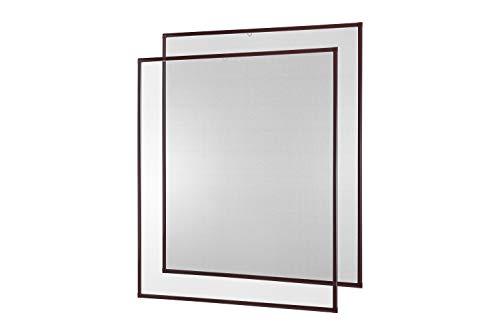 Insektenschutz Fenster Fliegengitter Basic 80 x 100 cm 2er Set braun