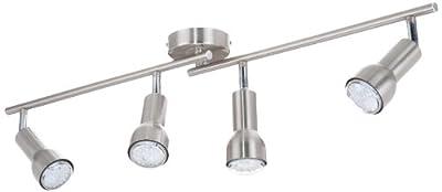 Trio-Leuchten 827510407 LED-Balken inklusiv 4x E14/R50 LED, je 1.5 W, mit zwei Gelenken, Nickel matt von Trio Leuchten - Lampenhans.de
