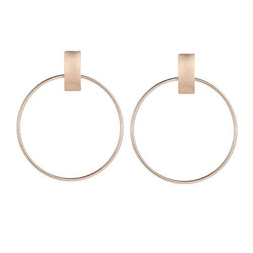 GroßE Kreisrunde Ohrringe Damen,Gold Einfache Creolen Mit Stecker,Lialbert Geometrische AnhäNger Schmuck Silber Geschenk
