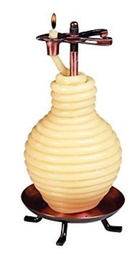 TVTime Direct Kerze von der Stunde-80Stunde Honig Topf Bienen Wachs Kerze, mit Kupfer Basis (Biene Honig Topf)