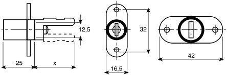 huwil Double Wing Ständer Lock Vertikale Arm verschiedenschließend
