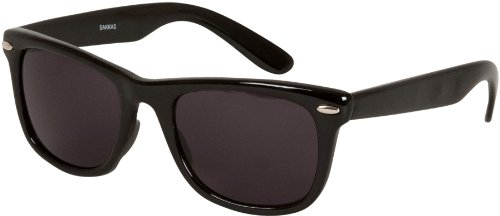 e8e84749a8 Sakkas DS1006 Retro 1980 s Style Sunglasses with Super Dark Lens - Black