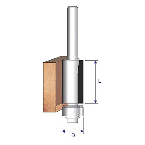 Erbauer Pro Flush Trim Bit 1/4 Shank 12.7 x 25.4mm