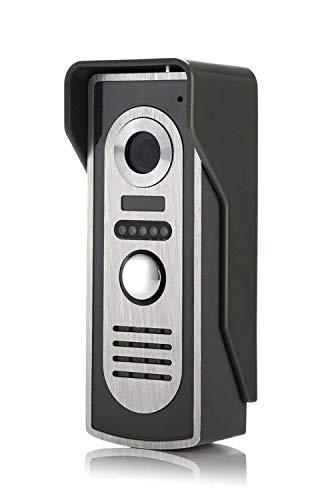 Video Portier 7''Inch Wired vidéophone visuel Vidéo Intercom Sonnette Moniteur Caméra Kit for la maison de sécurité (Color : B)