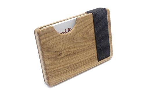 Hochwertiges Kreditkartenetui und Visitenkartenetui aus Holz | Sicher gegen herausfallen mit Verschluss | Auch für Visitenkarten geeignet | Original von WOODBI®