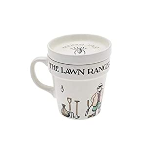ATP Lawn Ranger Gardeners Mug with Saucer Lid