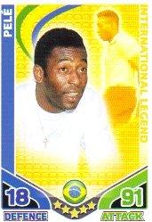 Preisvergleich Produktbild Match Attax ENGLAND Base Card BRAZIL Pele [Toy]