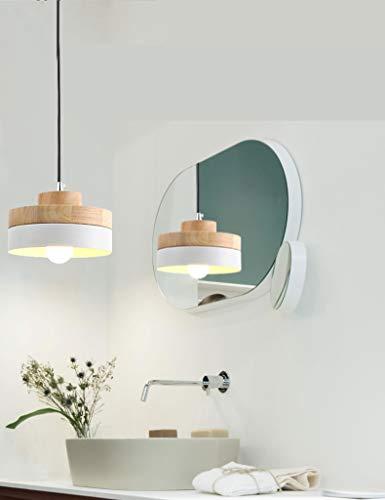 Nórdico Lámpara Creativa/Lámpara Colgante/Loft Luz Celda para Restaurante/Sala de estar/Estudio/Café/Bar/Dormitorio,Blanco-redonda