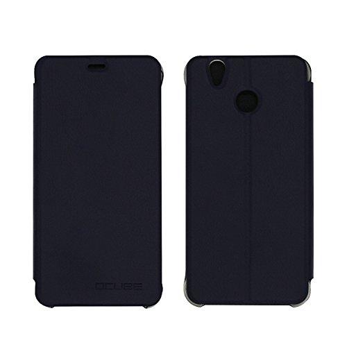 Guran® PU Leder Tasche Etui für Oukitel U7 Plus 5.5 Zoll Smartphone Flip Cover Stand Hülle Case-Dunkelblau