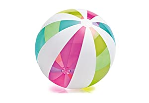 Intex - Pelota hinchable de 107 cm, diseño rayas, multicolor (59066NP)