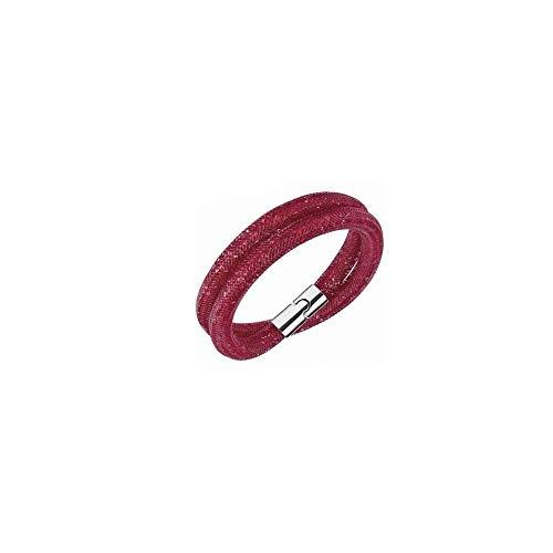 Swarovski 5184845 - braccialetto modello stardust con cristalli rossi e chiusura magnetica palladiata taglia m media 40 centimetri