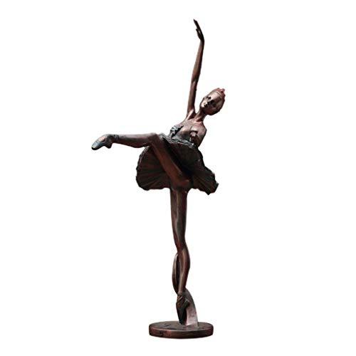A-Lnice Balletttänzerin Skulpturen, Ballett Mädchen Harz Figur Statuen Ballerina Statuen Weibliche Statue for Mädchen Dekoration Schreibtisch Ornament (Color : Ballet Arace Gonde) - Dekoration Schreibtisch Für Mädchen