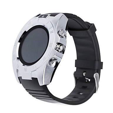 XKC-watches Herrenuhren, Herrn Damen Smart Uhr Modeuhr digital Wasserdicht Schrittzähler Caucho Band Schwarz Weiß Orange (Farbe : Gold)