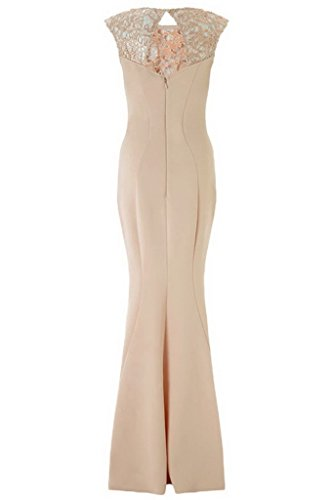 Bigood Robe Longue Femme Robes Sans Manche Soirée Mariage Cocktail Kaki