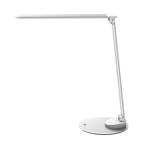 Lampada da tavolo LED TaoTronics Minimalist con USB di ricarica (lega di alluminio ultrasottile, Touch Control, Anabbagliante, funzione di memoria, 5 temperature di colore & 5 livelli di luminosità) [Classe energetica A]-Argento